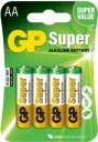 Baterie GP Super LR6 (AA) 4ks v blistru